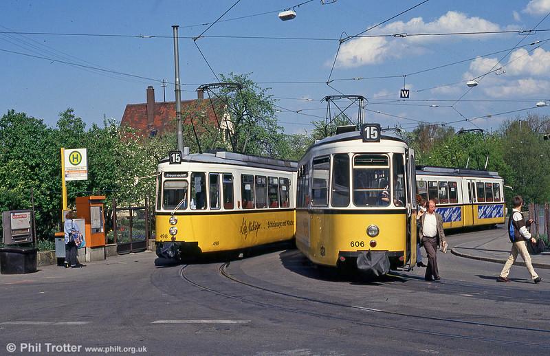 Stuttgart 466 and 606 at Stammheim on 21st April 1993.