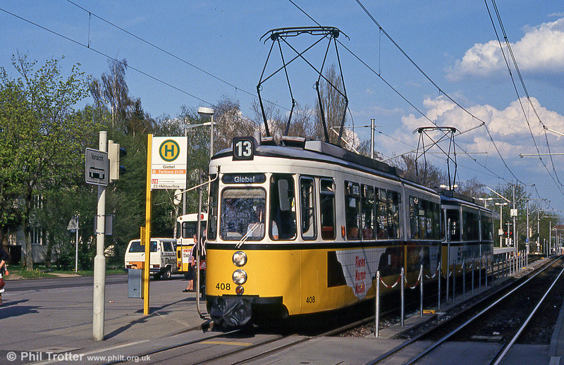 Stuttgart 408 at Giebel on 21st April 1993.
