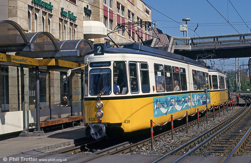 Stuttgart 436 at Wilhelmplatz on 21st April 1993.