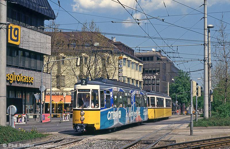 Stuttgart 450 at Wilhelmplatz on 21st April 1993.
