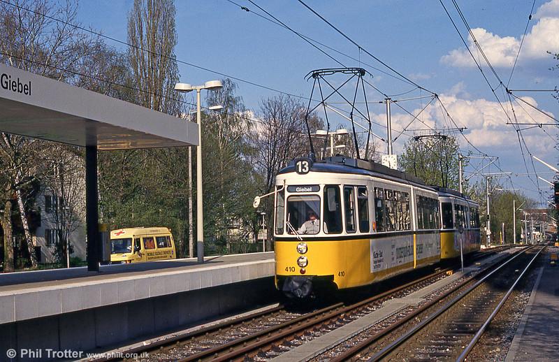 Stuttgart 410 at Giebel on 21st April 1993.