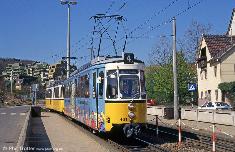 Stuttgart 461 at Botnang on 21st April 1993.