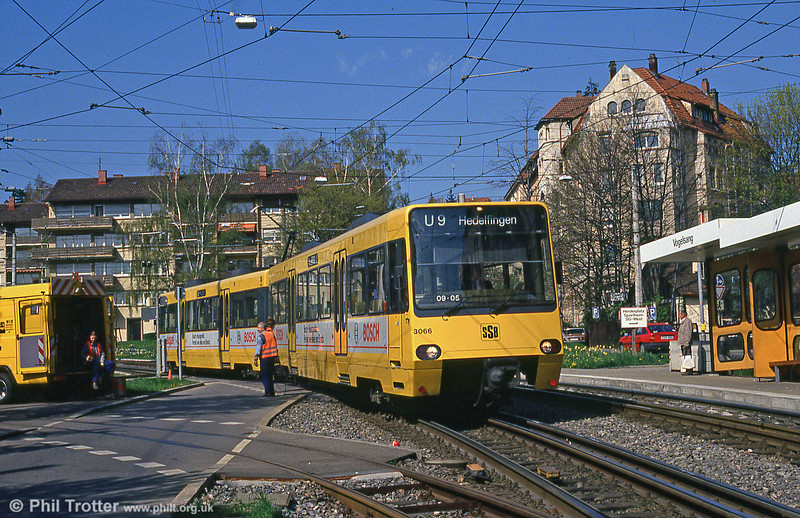 Stuttgart 3066 at Vogelsang on 21st April 1993.