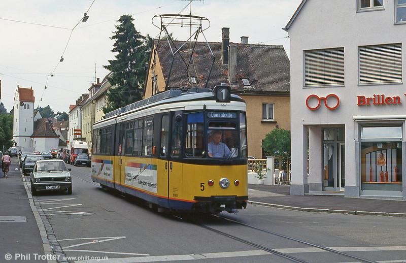 Ulm car 5 at Soflingen on 3rd August 1993.