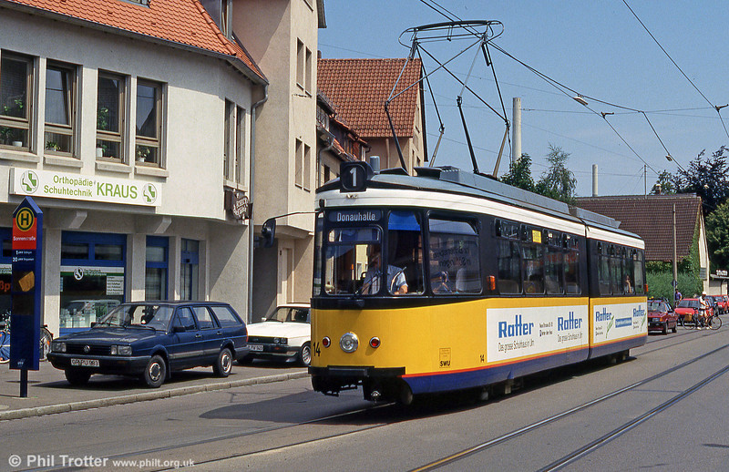Ulm car 14 at Soflingen on 3rd August 1993.
