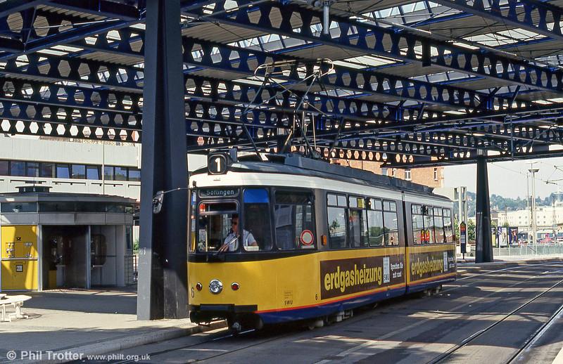 Ulm car 6 at Ehinger Tor on 3rd August 1993.