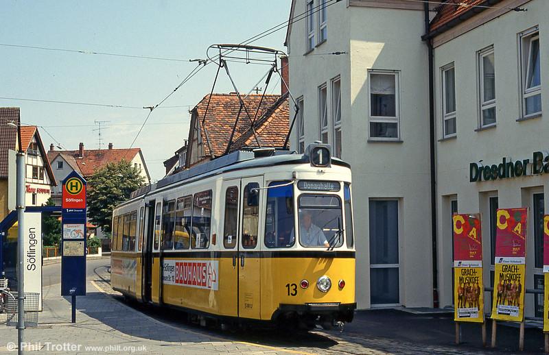 Ulm car 13 at Soflingen on 3rd August 1993.