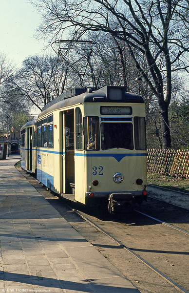 Gotha car 32 at Rahnsdorf on 10th April 1991.