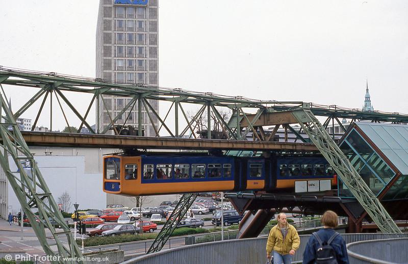 Wuppertal car 11 at Ohligsmühle on 21st April 1994.