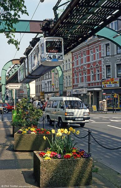 Wuppertal car 23 at Vohwinkel on 21st April 1994.