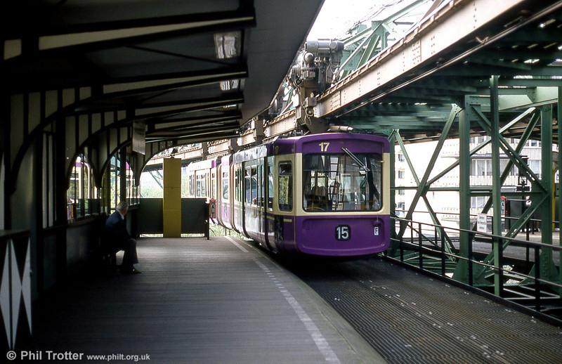 Wuppertal car 17 at Oberbarmen on 21st April 1994.