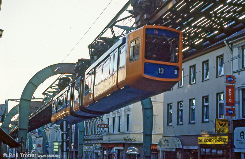 Wuppertal car 14 at Vohwinkel on 12th April 1991.