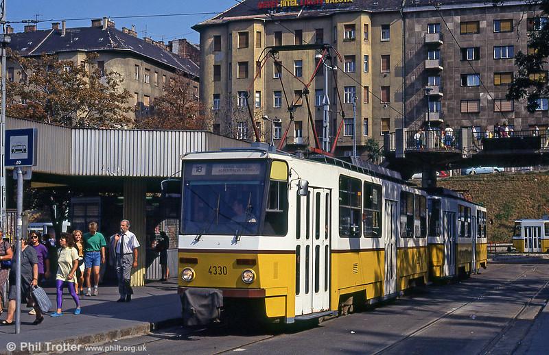Budapest Tatra T5CS no. 4330 at Moszkva tér on 19th August 1992.