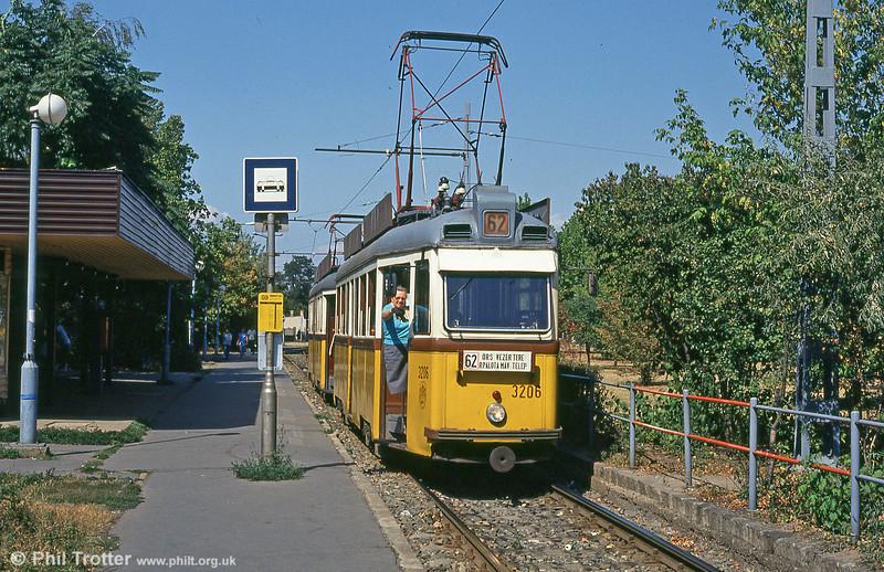 Ganz UV1 of 1956 vintage at Rákospalota, MÁV-telep on 18th August 1992.