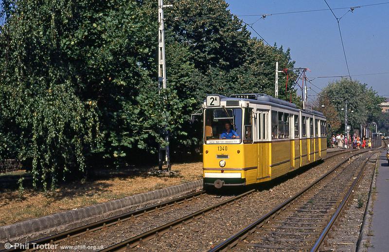 Budapest Ganz CSMG2 1340 at Boráros tér on 19th August 1992.