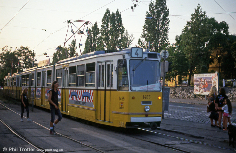 Budapest Ganz CSMG2 1465 at Orczy tér on 19th August 1992.