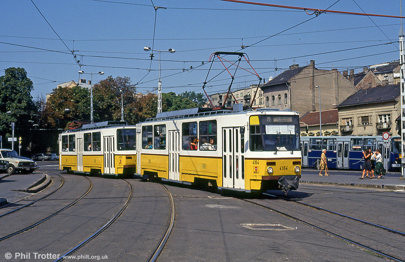 Budapest Tatra T5CS no. 4164 at Moszkva tér on 19th August 1992.