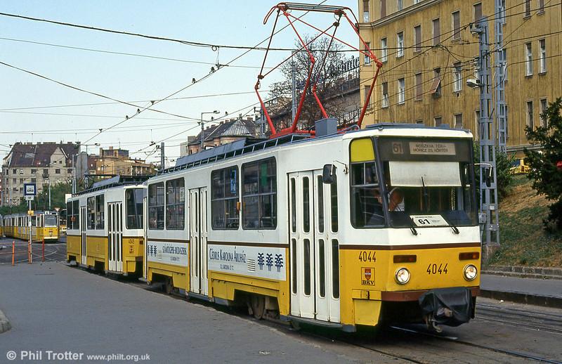 Budapest Tatra T5C5 4044 at Moszkva tér on 19th August 1992.