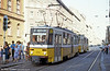 Budapest Tatra T5CS no. 4114 at Jozsef Korut on 19th August 1992.