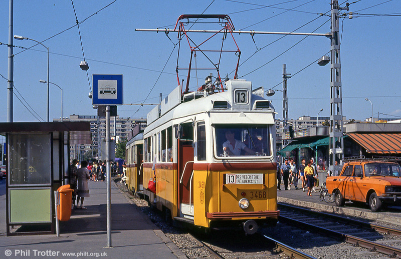 Budapest UV3 3468 at at Ors vezer tere on 18th August 1992.