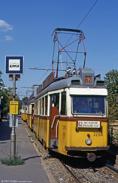 Ganz UV1 at Rákospalota, MÁV-telep on 18th August 1992.