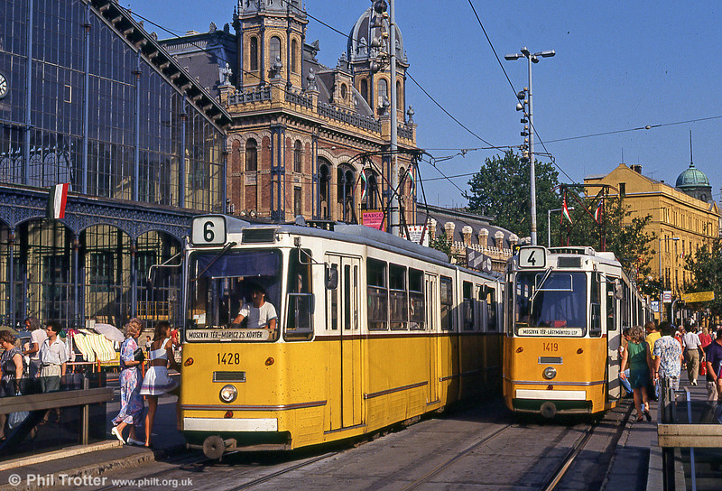 Budapest Ganz CSMG2 1428 at Nyugati Station on 19th August 1992.