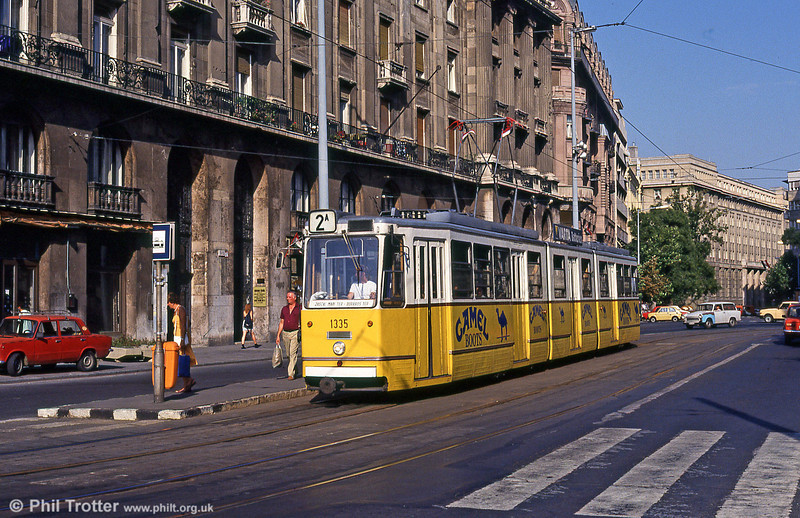 Budapest Ganz CSMG2 1335 at Kossuth Lajos tér on 19th August 1992.