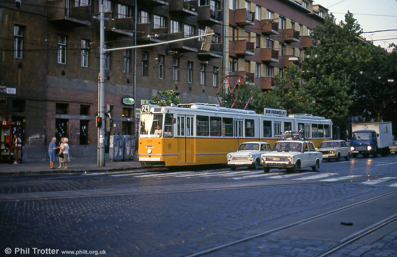 Budapest Ganz CSMG2 1314 at Haller utca on 19th August 1992.