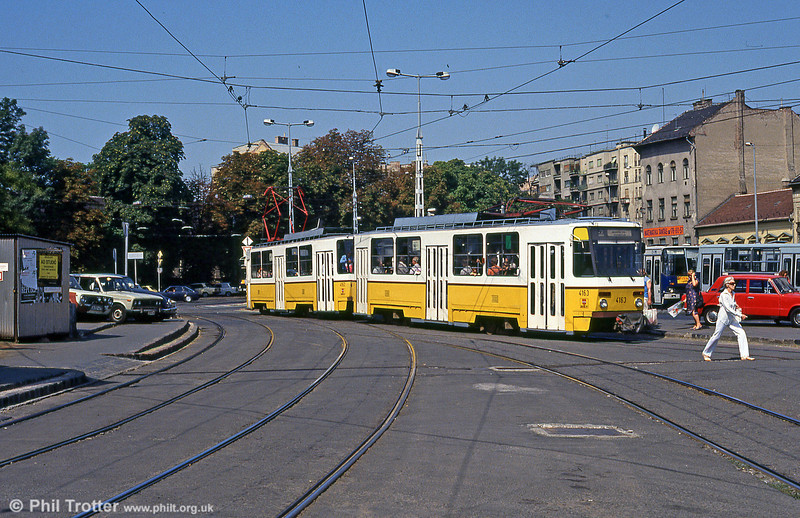 Budapest Tatra T5CS no. 4163 at Moszkva tér on 19th August 1992.