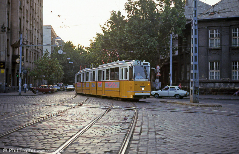 Budapest Ganz CSMG2 1356 at Ferenc körút on 19th August 1992.