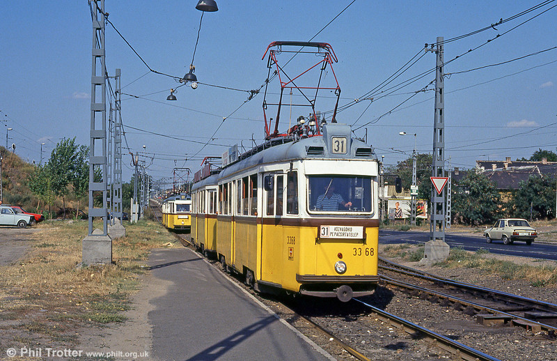 Ganz UV2 3336 at Gubacsi Ut on 18th August 1992.