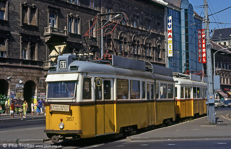 Budapest UV5 3857 at Keleti Station on 18th August 1992.