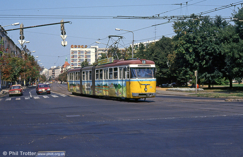 Debrecen 381 at Petőfi tér on 21st August 1992.