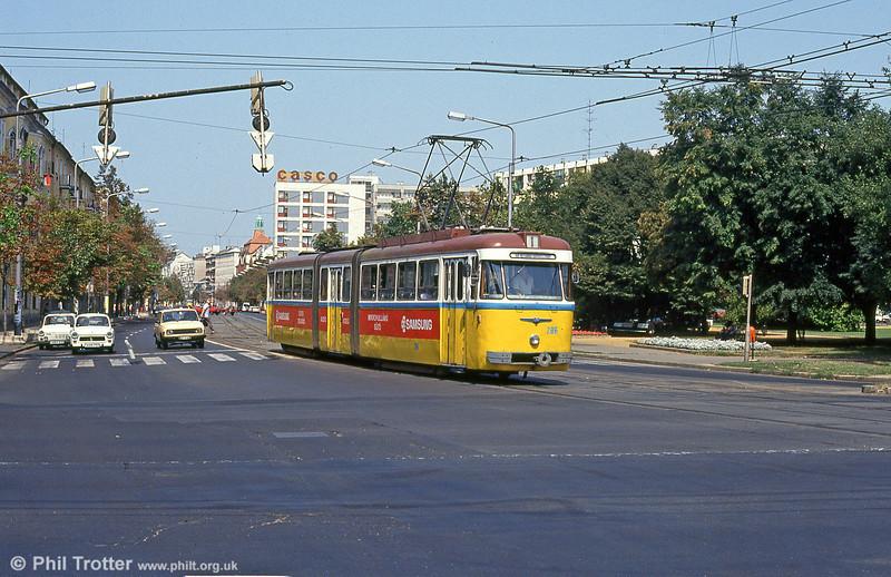 Debrecen 286 at Petőfi tér on 21st August 1992.
