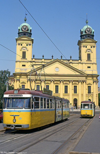 Debrecen 381 at Kossuth tér on 21st August 1992.