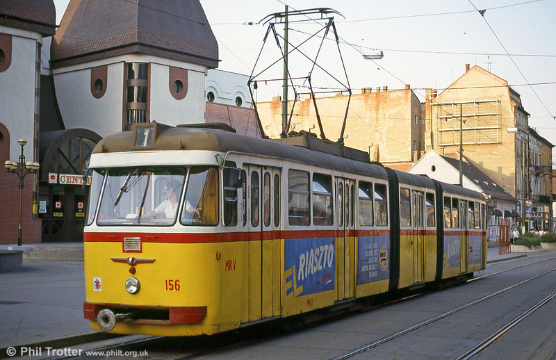 Miskolc 156 at Széchenyi István Way on 21st August 1992.