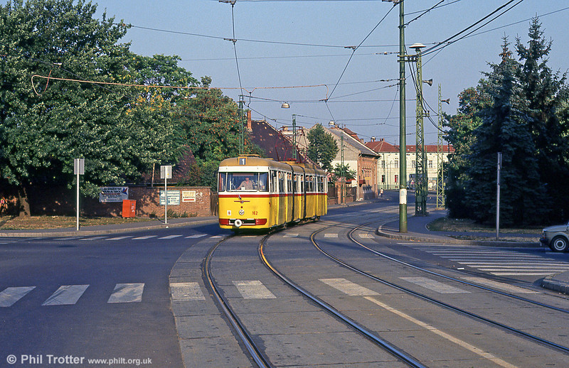 Miskolc 162 at Varoskozpont on 21st August 1992.