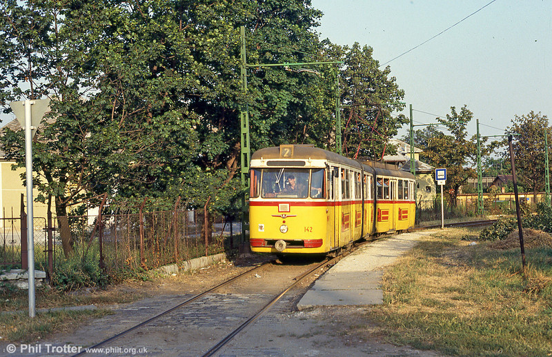 Miskolc 142 at Marx tér on 21st August 1992.