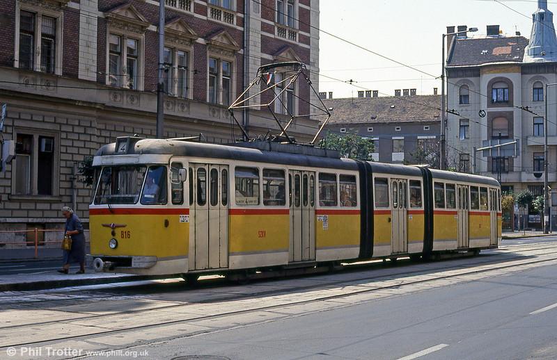 Szeged 816 at Somogyi Bela utca, 20th August 1992.