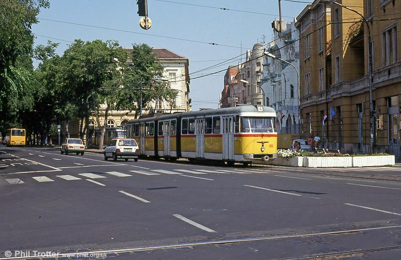 Szeged 805 at Vidra Utca, 20th August 1992.