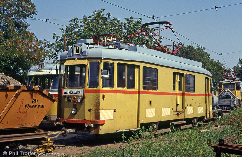 Szeged works car SZ5 at Rokus on 20th August 1992. This was formerly Budapest 1520.