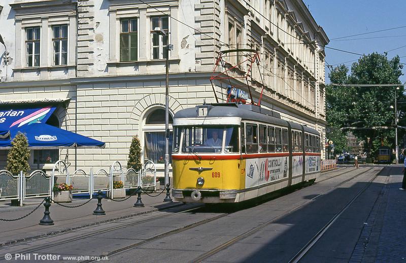 Szeged 609 at Somogyi Béla utca on 20th August 1992.