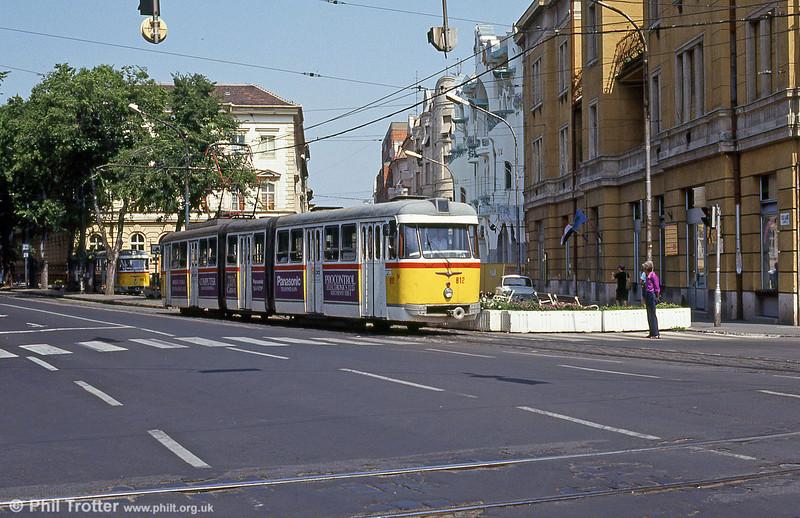 Szeged 812 at Vidra Utca, 20th August 1992.
