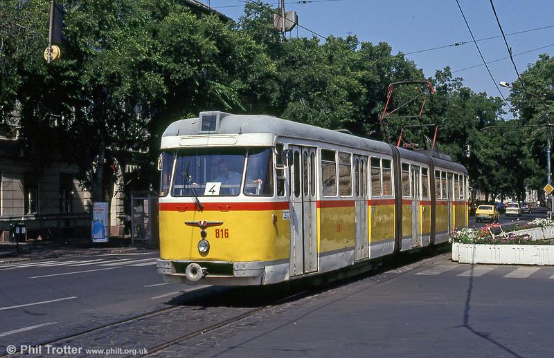 Szeged 816 at Vidra Utca, 20th August 1992.