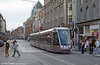 A Dublin Luas Alsthom Citadis car at Abbey Street Middle en route for Connolly Station on 10th August 2005.