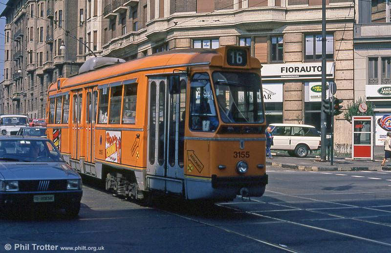 Car 3155 at Via Nizza on 5th September 1989.