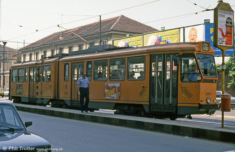 Car 2811 at Via Nizza on 5th September 1989.