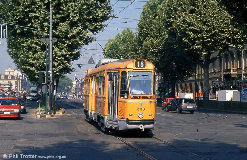 Car 3118 at Porta Nuova on 5th September 1989.