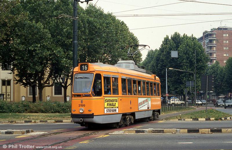 Car 3199 at Piazza Bernini on 30th July 1993.