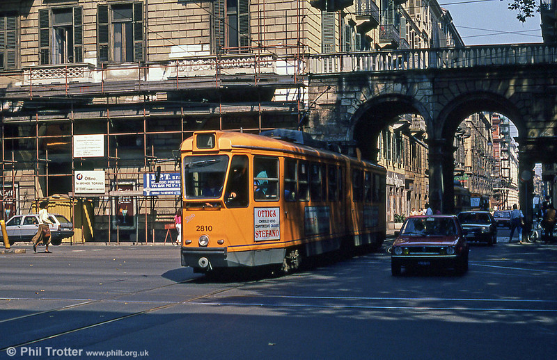 Car 2810 at Porta Nuova on 5th September 1989.